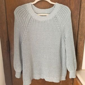 Baby blue Aerie Knit Sweater